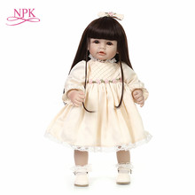 2016 NEW design Reborn toddler cute girl doll sweet baby doll Birthday Gift Toys for child stand doll(China)
