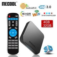 2019 Новый MECOOL KM9 Android 9,0 ТВ Box Amlogic S905X2 4 ядра 4G DDR4 32G Встроенная память 4 K Android 9 Смарт ТВ-бокс с USB 3,0 Media Player