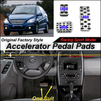 Litanglee Car Accelerator Pedal Pad Cover Sport Racing Design For Mercedes Benz MB B170 NGT B180 B200 CDI AT Foot Pedal Throttle