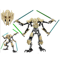 StZhou Star Wars 7 General Grievous With Lightsaber Storm Trooper W Gun Figure Toys Building Blocks