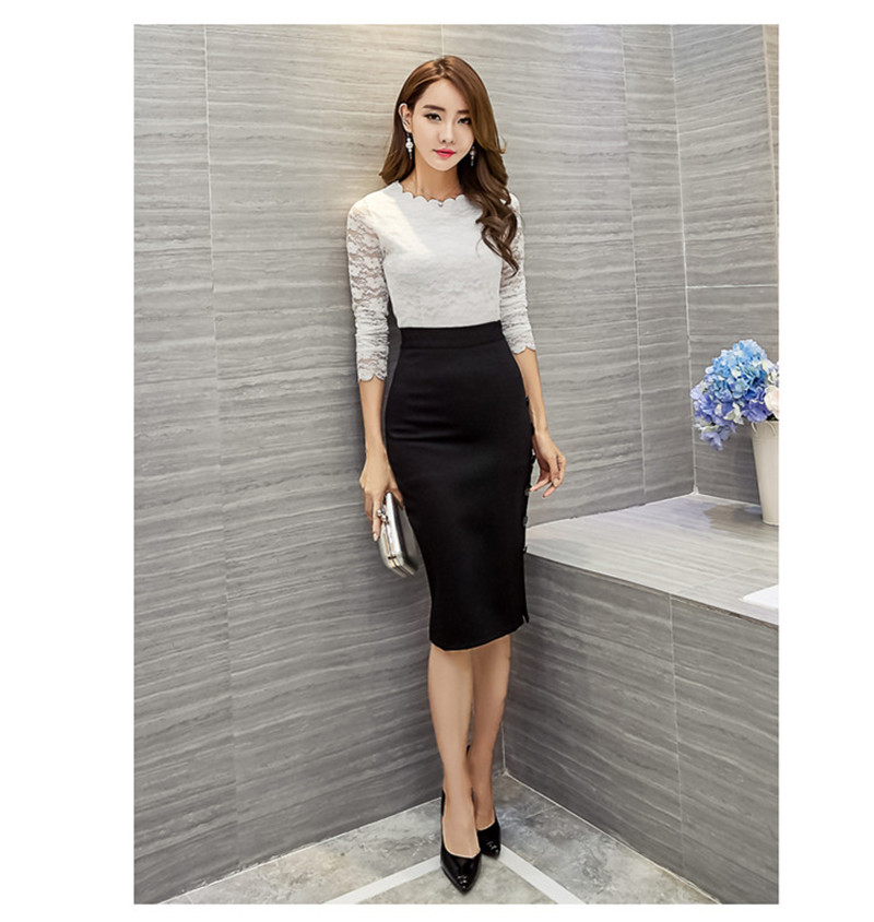 Work Office Pencil Skirts Womens Summer