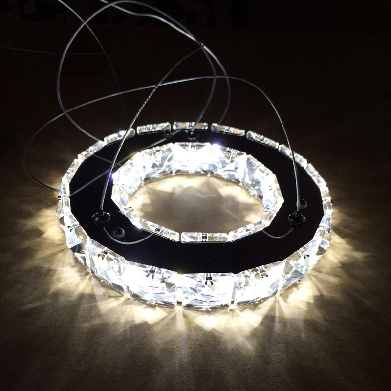 Silver Crystal Ring LED Chandelier Crystal Lamp / Light / Lighting Fixture Modern LED Circle Light used for Ceiling 20cm mymei modern new crystal led ceiling light fixture pendant lamp lighting chandelier