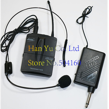 lwm-3122 Headset Wireless Microphone System output 6.5 plug Cordless Lapel Mic for Musical Instrument Teaching Speech Computer