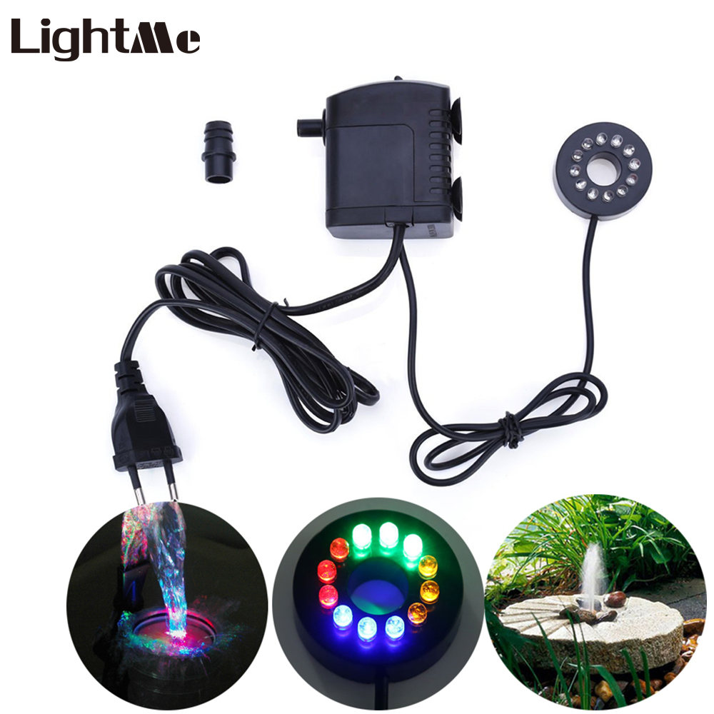 Lightme Electric Submersible Pump 12 Colors LED Light for