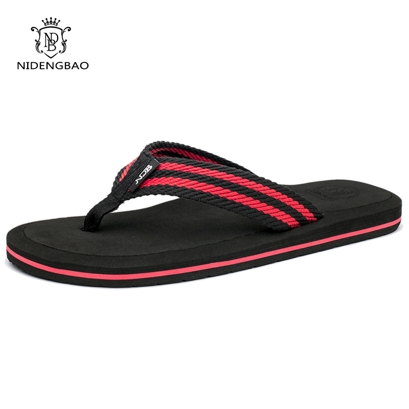 NEEDBO Flip Flops Men Summer Cool Platform Sandals Men Beach Shoes Comfortable Slippers Sandals Flat For Men Plus Size 47