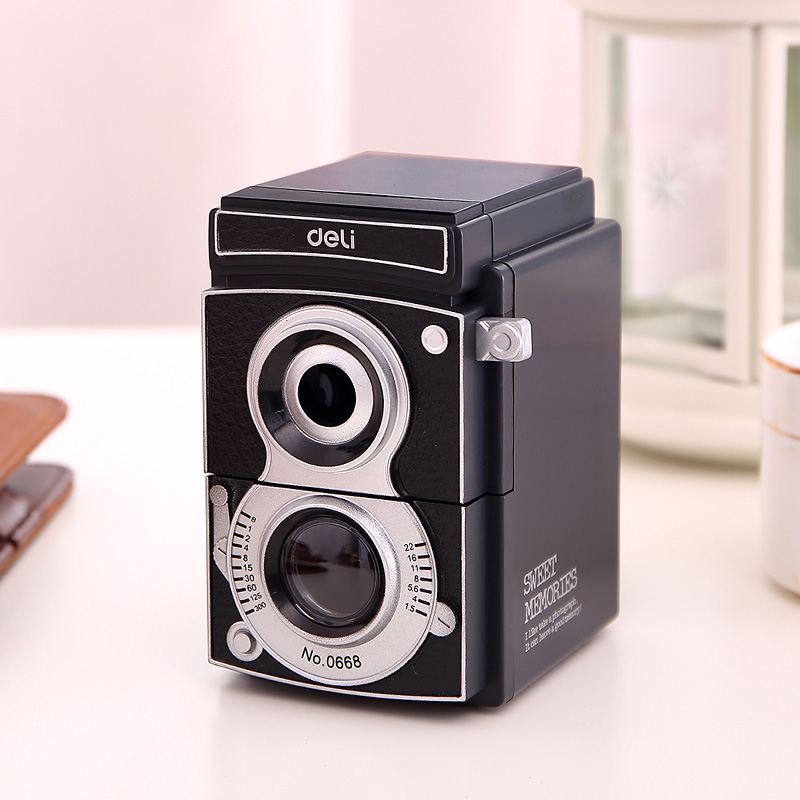 Retro Camera Pencil Sharpener Creative Student Manual Pencil Sharpener For Kids School Supplies & Office Stationery 1pcs creative cute mermaid pencil sharpener kids school toy stationery princess doll style manual pencil sharpener