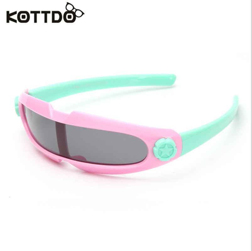 Kottdo bebé uv400 tac polarizado gafas de sol niños niño revestimiento de seguri