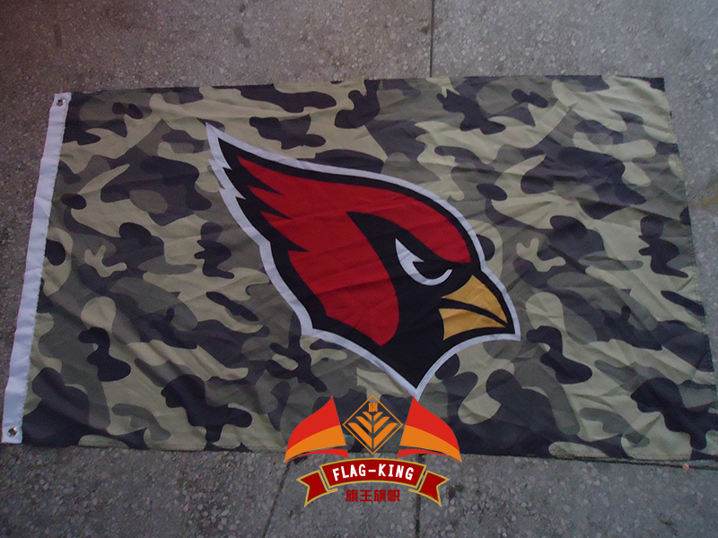 Arizona Cardinals with Army green camouflage background flag ,90X150CM size,100% Polyester,Digital printing,can motor banner ...