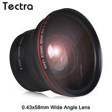 58 мм 0.43x профессиональный HD Широкий формат Объектива w/макро часть для цифровой однообъективной зеркальной камеры Canon EOS Rebel 77D T7i T6s T6i T6 T5i T5 T4i T3i SL2 60D 7D 70D