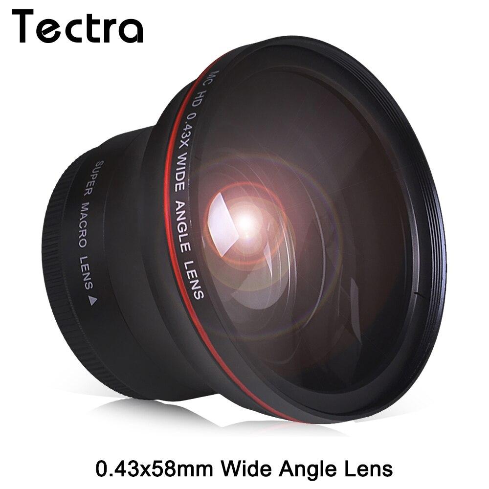 58 MM 0.43x Professionnel HD Grand Angle Lentille w/Macro Partie pour Canon EOS Rebel 77D T7i T6s T6i T6 T5i T5 T4i T3i SL2 60D 7D 70D