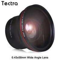 58MM 0.43x Professional HD Wide Angle Lens w/Macro Portion for Canon EOS Rebel 77D T7i T6s T6i T6 T5i T5 T4i T3i SL2 60D 7D 70D
