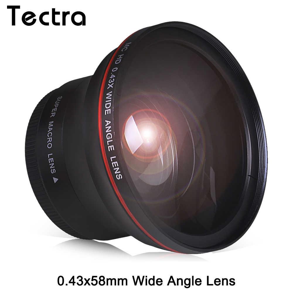 58MM 0.43x profesjonalnym HD obiektyw szerokokątny w/makro część dla Canon EOS Rebel 77D T7i T6s T6i T6 T5i T5 T4i T3i SL2 60D 7D 70D