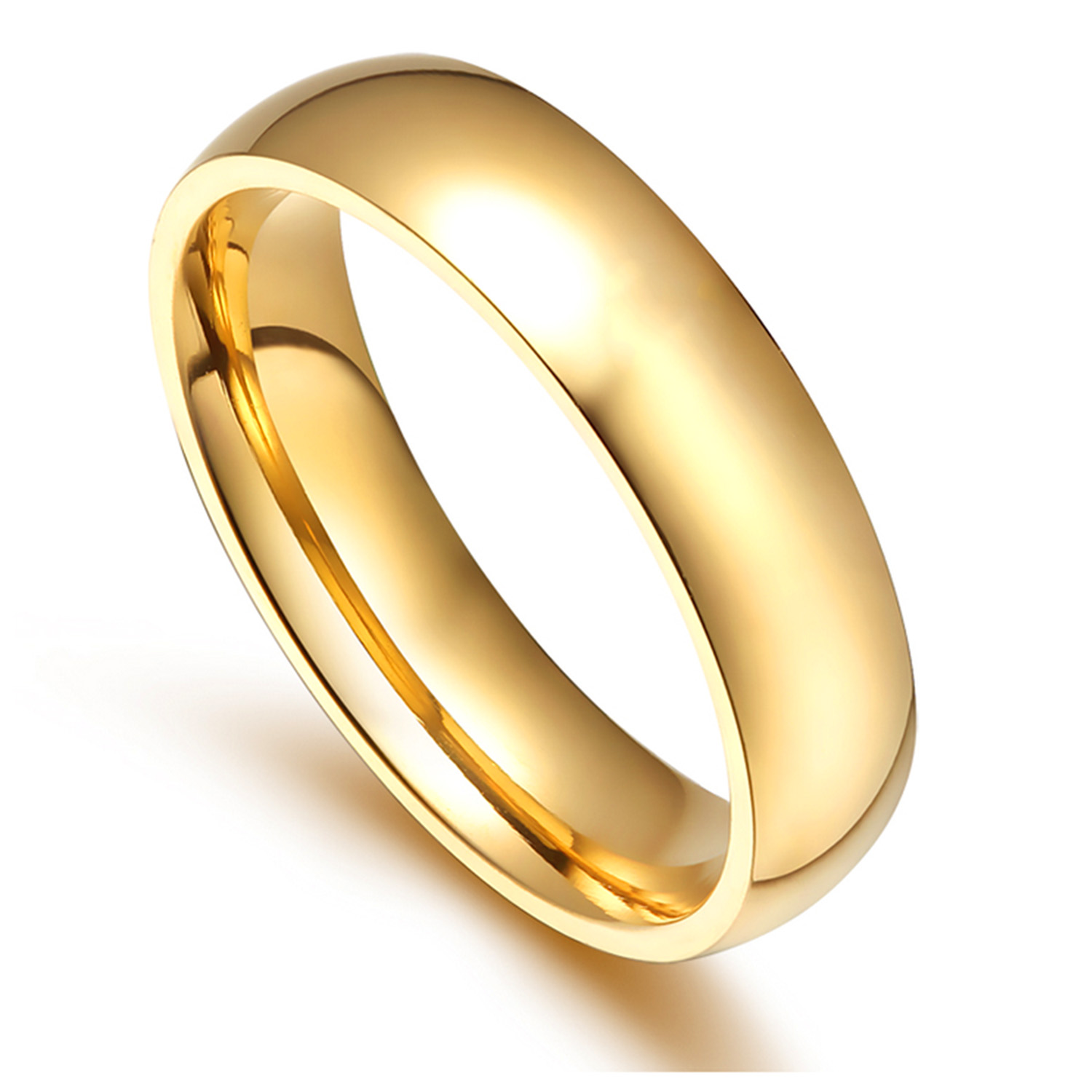promotion classic wedding ring for men women gold silver color stainless steel metal