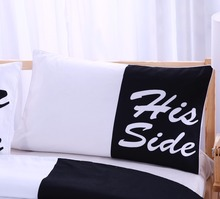 BeddingOutlet Black White Bedding Set His and Her Side Home Textiles Soft Duvet Cover and Pillowcases 3 Pieces Queen King Hot