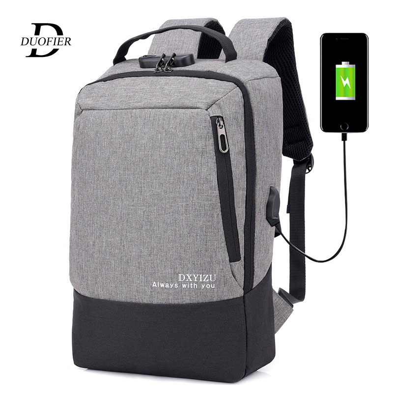 Backpacks Usb-Charging Water-Resistant Anti-Theft Bag Computer for Men with Laptop Laptop