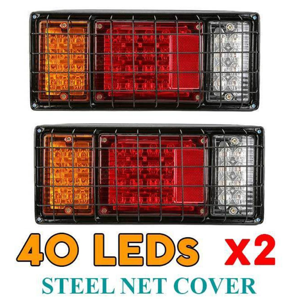 1 paire 12 V voiture camion LED feux arrière feux arrière lampes arrière Tailight pièces pour la plupart des camions remorques caravas UTE bus vans