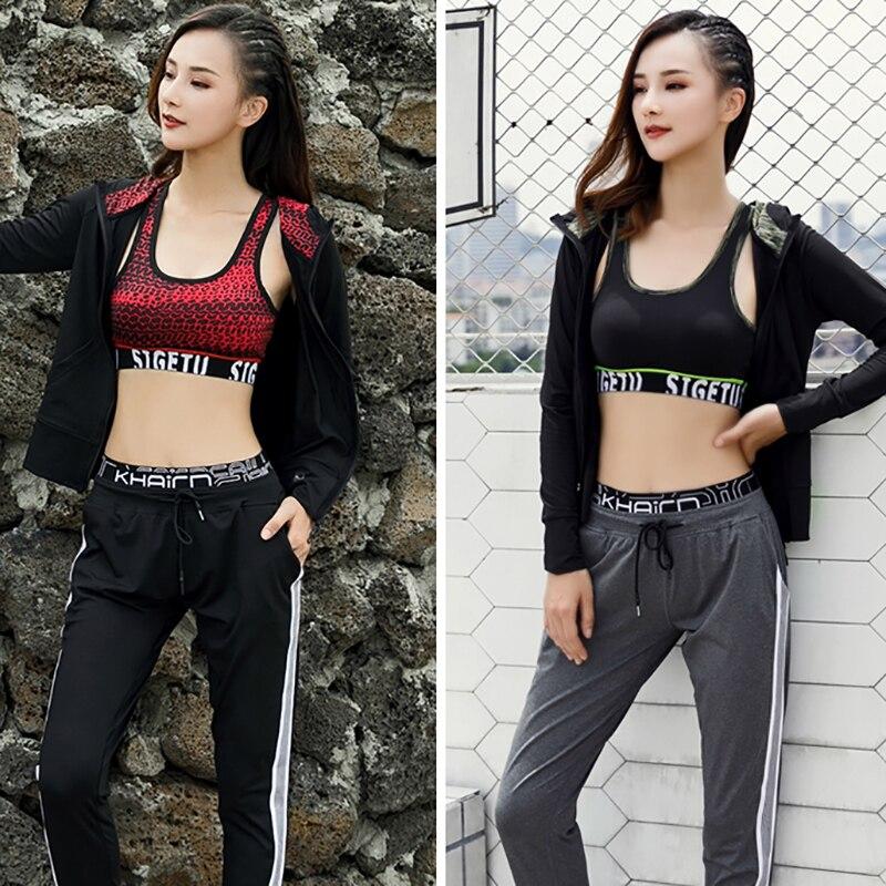 Femmes de Sport 3 pcs/ensemble formation collants de course dames yoga accessoires de vêtements gym séchage rapide compression tenue de jogging