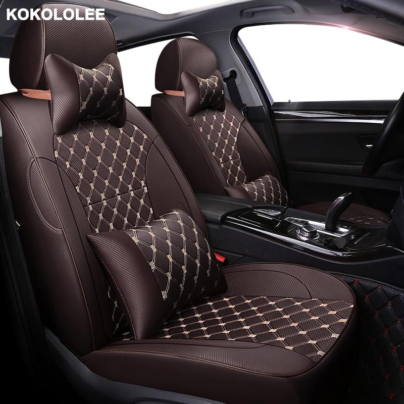 kokololee Custom font b car b font seat cover For ssangyong kyron actyon korando rexton auto
