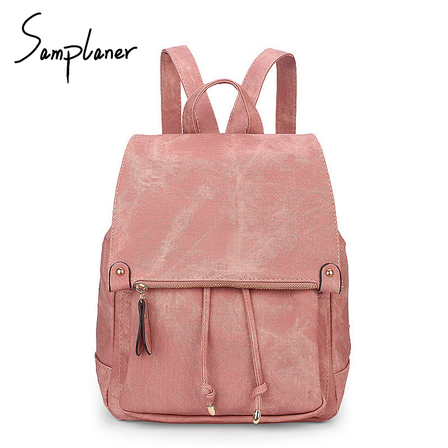 Vintage Leather Backpack Women Travel Bag Large Schoolbag For Teenagers Girls Solid Candy Pink College Backpack Mochila Feminina backpacks to school pink bow cute backpacks college schoolbag backpack girls large travel women s backpack bag bolsa mochila