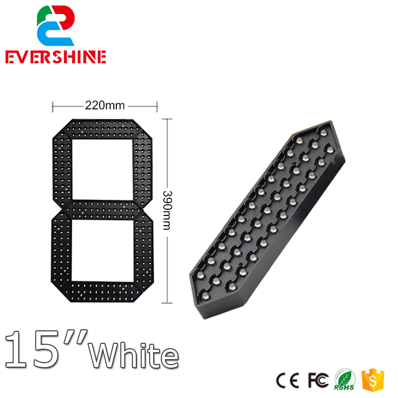 15 White Color 7 segment module, led number display led sports timer digital clock module dc 12v led display digital delay timer control switch module plc automation new
