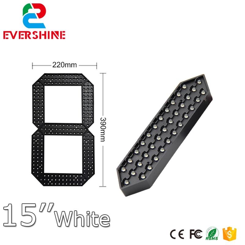 15 white cor 7 segmento modulo numero de led modulo de display led esportes relogio temporizador