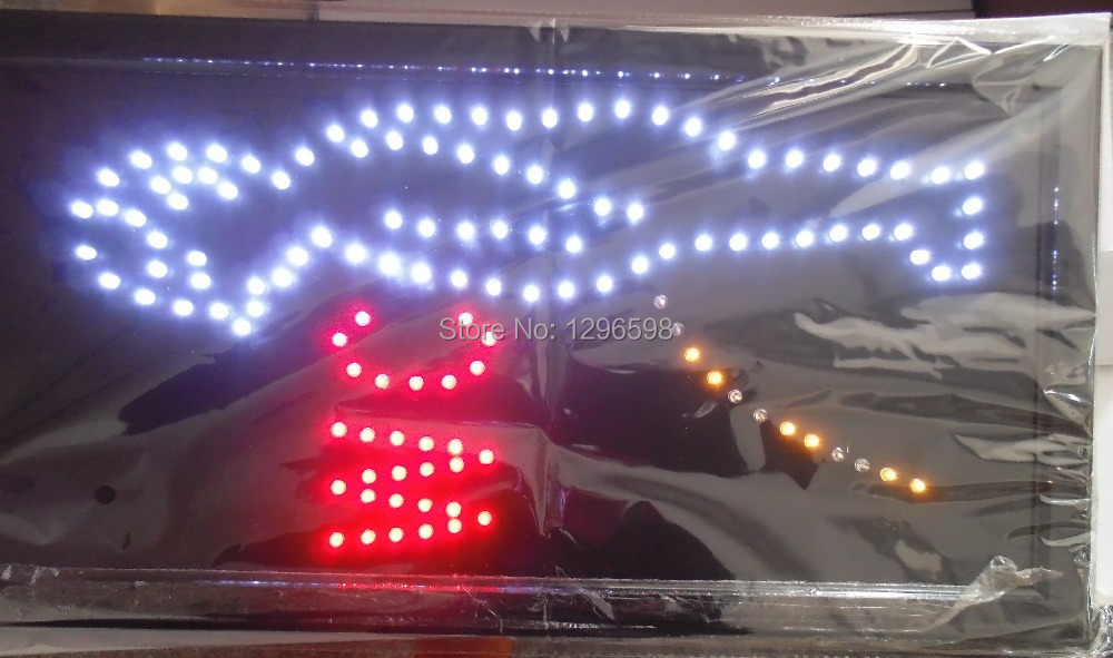 2017 hot sale customed 10X19 inch indoor Ultra Bright flashing wc led Neon open lighted Sign