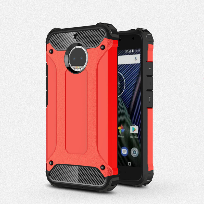 For Motorola G5 G5S  Shell Shockproof Armor PC Silicone 2 in 1 Combo Rubber Cases For Moto G5 Plus G5S Plus TPU Back Cover Coque