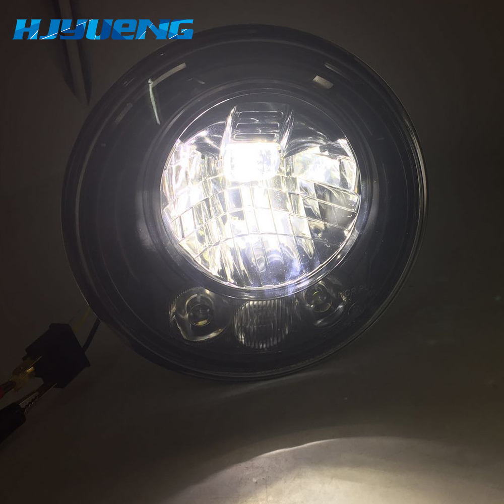 Image 2 - 2pcs For Wrangler JK 2 Door 2 Hummer H1 H2 7inch LED Headlights For Lada 4x4 urban Niva 2007~2016 For Suzuki Samurai-in Car Light Assembly from Automobiles & Motorcycles