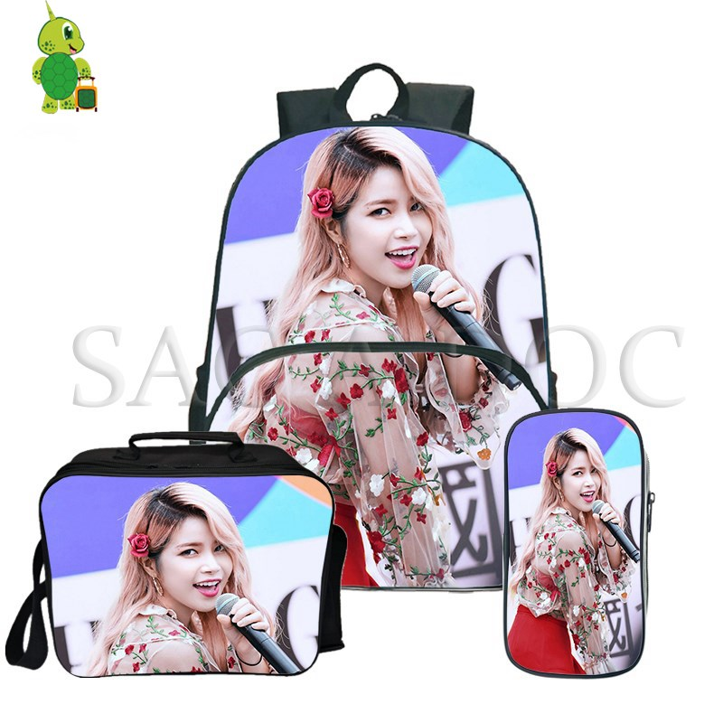 Mamamoo Kpop Solar Moon Byul 3Pcs/Sets Backpack Book Bag