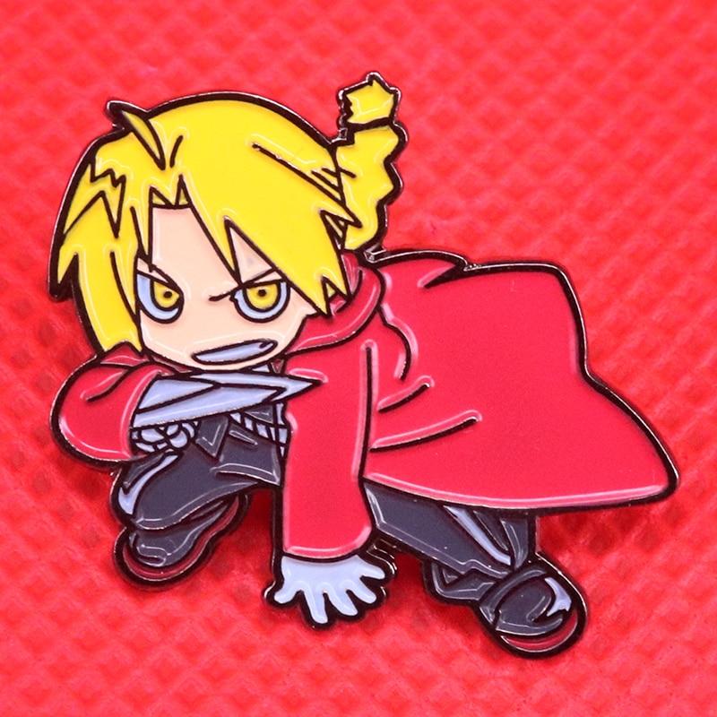Fullmetal Alchemist Enamel Pin Edward Elric Brooch FMA Kawaii Anime Badge Otaku Gift Alchemy Jewelry Jackets Backpack Accessorie
