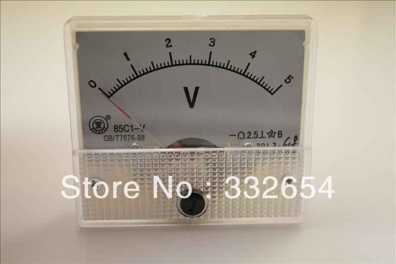 5 Volt Analog Meter : C dc v analog volt voltage panel meter voltmeter in