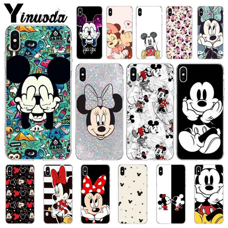 Yinuoda Beauty Cartoon Mickey Minnie Mouse  Coque Shell Phone Case for iPhone X XS MAX 6 6S 7 7plus 8 8Plus 5 5S XR