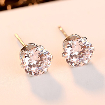 925 Sterling Sliver Stud Earrings 2 Carat