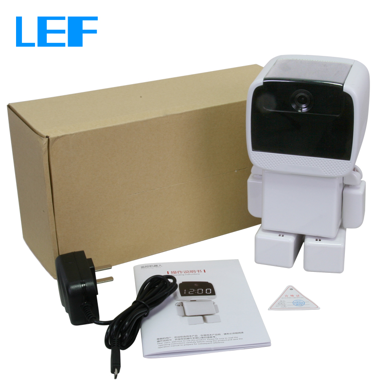 LEF Robot IP Camera Wi-Fi 960P Video Cam with Clock Home Security Camera Wireless Day & Night Baby Monitor