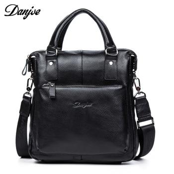 DANJUE Genuine Leather Men's Messenger Shoulder Bag Gentleman Business Bag Real Leather Men Crossbody Bag Brand fashion handbag