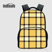 Dispalang 3D Клетчатый узор школьный рюкзак для учащихся начальной школы 17 дюймов Bookbags для подростков Meninas Женщины Путешествия Sacs à Bandoulière
