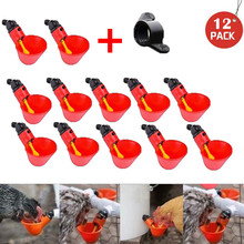 12Pcs Feed Automatic Bird Coop Poultry Chicken Fowl Drinking Bowl Water Drinking Cups Feeding Watering Farm Animal Supplies
