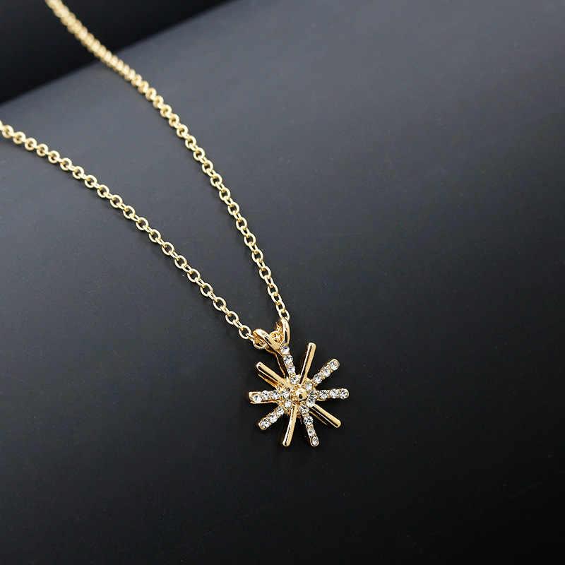 Thời trang Hướng Dương Mặt Dây Chuyền Vòng Cổ Vàng với Giả Ngọc Trai Phụ Kiện cho Phụ Nữ Nữ đồ trang sức bijoux