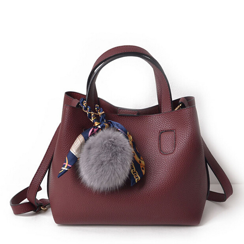 COOL WALKER New Women Leather Handbags Composite Bag Large Shoulder Bags Crossbody Bags Ladies Designer Tote Bags Bolsa Feminina