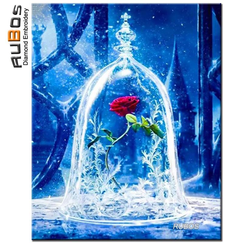 Us 555 38 Offev Ve Bahçeten Elmas Boyama çapraz Dikişde Rubos Gül çiçek Cam Bardak Elmas Boyama Tam Kare Veya Yuvarlak Elmas Nakış Kiti çapraz