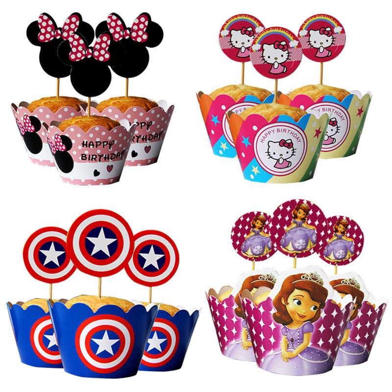 Outstanding Wholesale Cartoon Characters Cupcake Wrappers Topper Kids Funny Birthday Cards Online Hetedamsfinfo