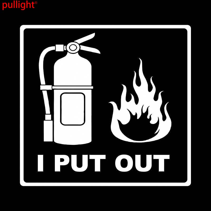 I PUT OUT FIRES FIREFIGHTER CUT VINYL DECAL STICKER Motorcycle SUVs Bumper Car Window Laptop Car Stylings in Car Stickers from Automobiles Motorcycles