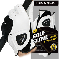golf glove men Left hand genuine leather Breathable soft small sheepskin Skidproof and clingy wear resisting new freeshipping