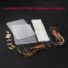 2016 2 Set Raspberry Pi Mounting Plate 14.5 *10.5 cm Acrylic  Board + 400 Points Breasboard + Jumper Line for Raspberry Pi 3/2