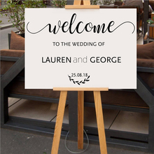 Personalized Name And Date Wedding Decoration Vinyl Wall Decals Beauty Modern Ornament Poster Mural XL10