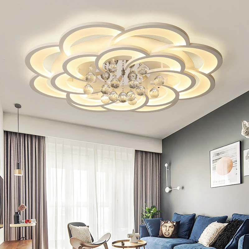Acrylic Modern Led ceiling Chandeliers For Bedroom living room crystal chandelier lighting plafonnier led lampara techo|Chandeliers| |  - title=