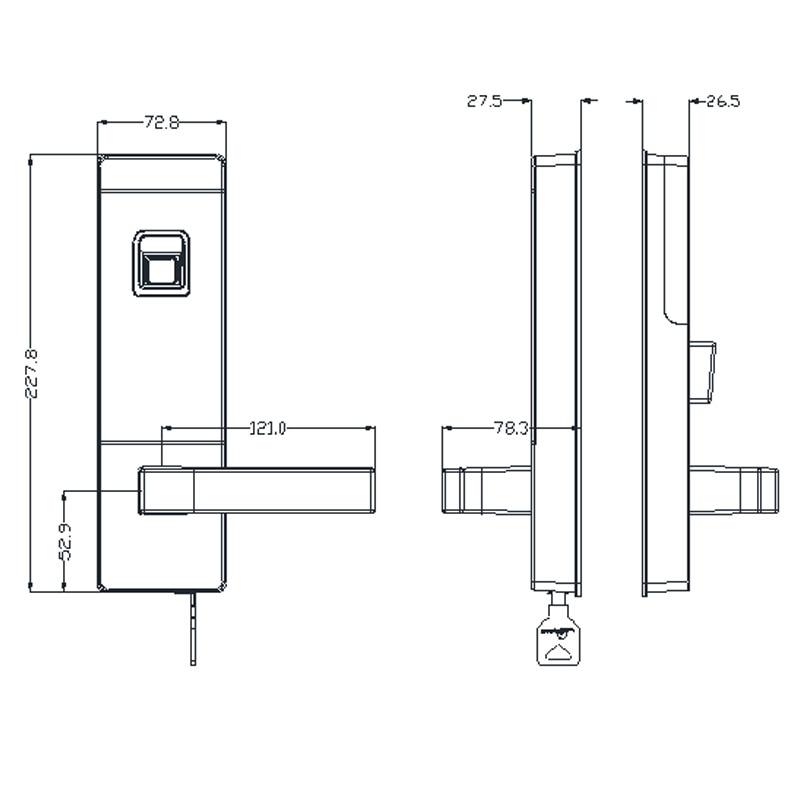LACHCO biometrischer intelligenter Türschlossfingerabdruck, 4 - Schutz und Sicherheit - Foto 4