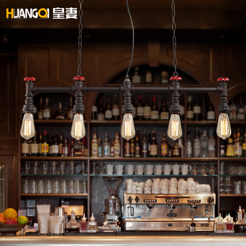 Huang's wife personality cafe bar wind pipe industry diffuse loft retro iron bar
