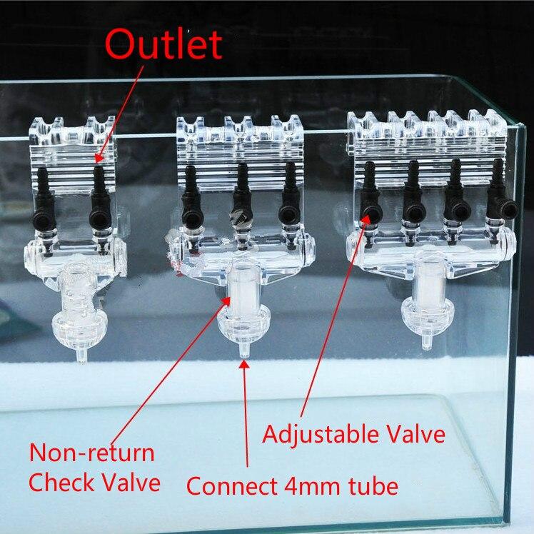 2 3 4way Multi Function Aquarium Air Control Valve