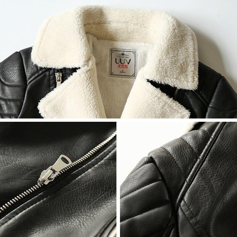 Veste Uv301899 Noir En Nouveau 2018 Mouton Peau Fourrure Rue D'hiver Doux Agneau Chaud De Femmes Faux Manteau Moto 1qzRTa